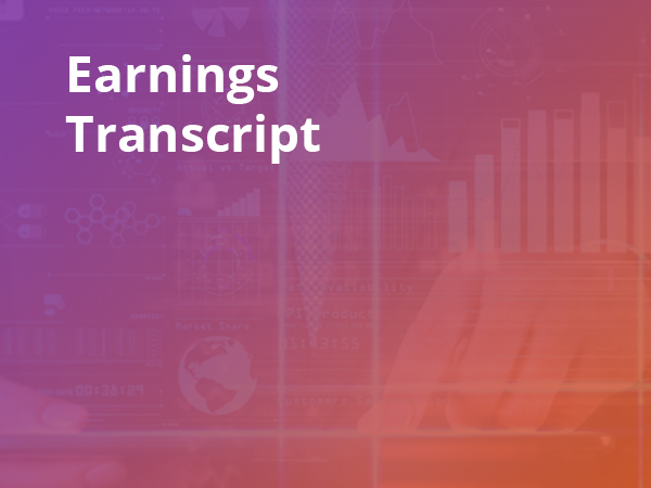 stock earnings conference call transcript