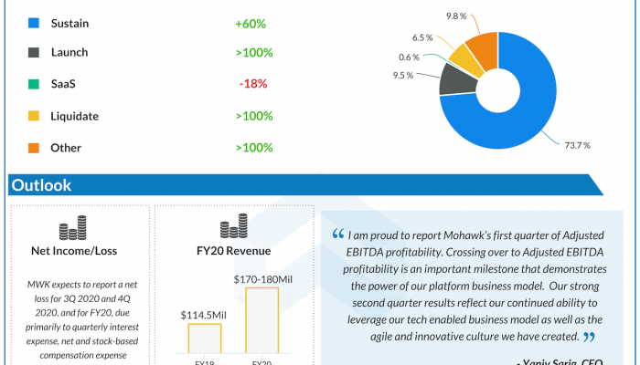 Mohawk Group Q2 2020 earnings infographic