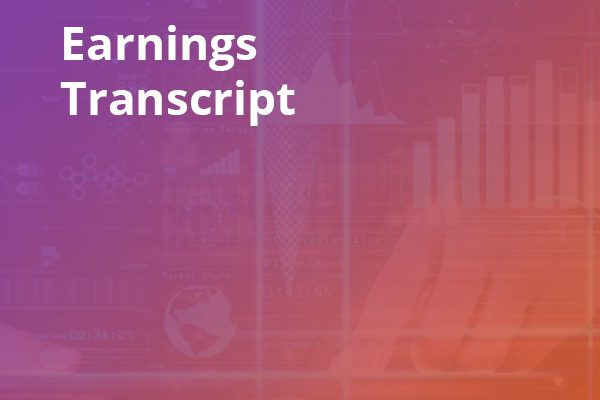 Earnings Conference Call Transcript