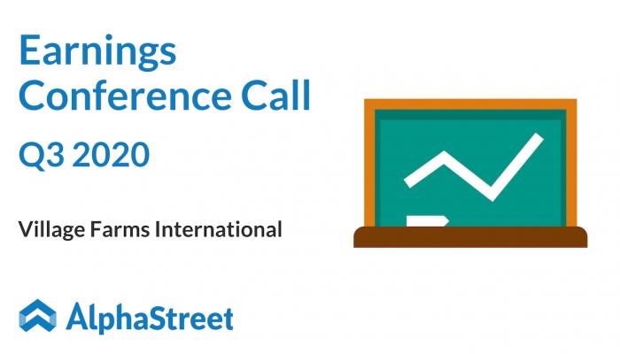 Village farms international Q3 2020 earnings call